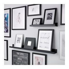 IKEA - MOSSLANDA, Picture ledge, white, The picture ledge has a special groove to keep smaller frames at the perfect angle. The picture ledge makes it easy to vary your favourite motifs as often as you like. Mosslanda Picture Ledge, Ikea Picture Ledge, Picture Shelves, Picture Wall, Picture Frames, Gallery Wall Shelves, Photo Shelf, Gallery Walls, Picture Photo