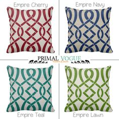 Zippered Geometric OUTDOOR Throw Pillow by PrimalVogueHomeDecor