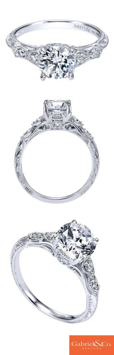 Express the many intricate and beautiful details of your love in a stunning engagement ring. This Amavida Engagement Ring by Gabriel