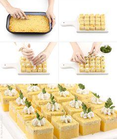 Provereni recepti. Cooks and Bakes: Palenta kockice sa gorgonzolom