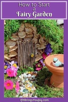 Easy step-by-step instructions to make a charming DIY outdoor fairy garden. Enjoy fairy gardens in small outdoor spaces or in unique indoor containers. Learn how to start a fairy garden and enjoy the process of designing and creating your own DIY fairy house. #DIY #FairyGardening Indoor Fairy Gardens, Miniature Fairy Gardens, Outdoor Gardens, Fairy Gardening, Diy Fairy Garden, Fairies Garden, Mini Gardens, Gnome Garden, Garden Crafts