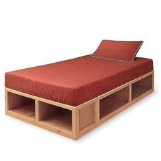 This step by step diy woodworking project is about storage twin bed plans. If you want to learn more about building a nice storage bed, we recommend you to pay attention to the instructions des Twin Storage Bed, Platform Bed With Storage, Bed Frame With Storage, Bedroom Storage, Platform Beds, Twin Xl Bed Frame, Diy Bed Frame, Bed Frames, Twin Beds