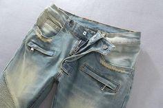 Ripped Slim Jeans For Men