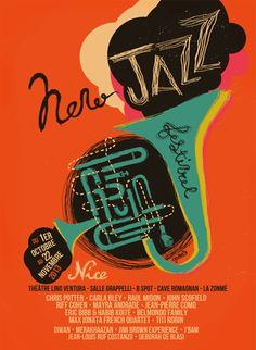 Graphic Design Brochure, Graphic Design Posters, Graphic Design Typography, Graphic Design Inspiration, Festival Jazz, Festival Logo, Festival Posters, Vintage Concert Posters, Music Posters