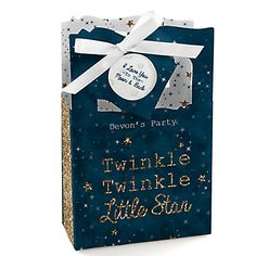 Twinkle Twinkle Little Star - Personalized Party Favor Boxes   BigDotOfHappiness.com