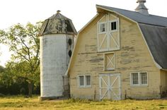 19thC rural French Dairy Barn  Our barn near Gibbon Nebraska look similar, we did not have the silo but the bar was in this shape with a huge roof