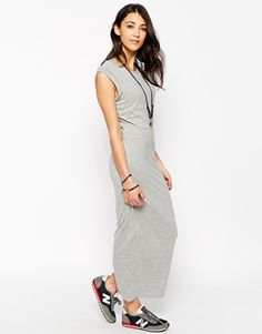 Brave Soul Maxi Dress With Roll Sleeve Cuffs