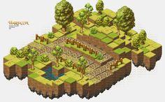 Isometric Game Art - Game: Hartacon