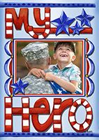 My Hero custom printed photo flag from flagology.com