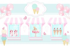 Backdrops, Ice Cream, Boutique, Birthday, Frame, Party, Red, Home Decor, No Churn Ice Cream