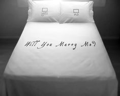 Marriage Proposal Duvet Cover Set Comforter Will You by DUVETCOVER, $160.00
