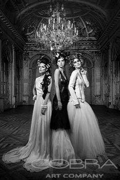 BUTTERFLY BALLROOM Fashion & Faces Photography Black & White Photographic art on plexiglass Cobra Art Company