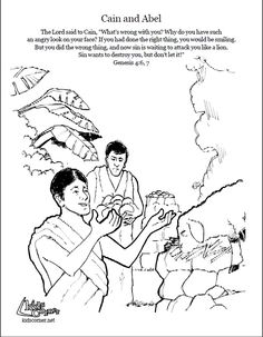 cain and abel coloring page az coloring pages sunday school