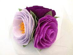 Paper Flower Corsage/ Wrist Corsage/ Wedding by LandofFlowers