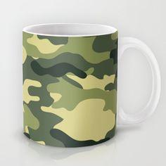 Camouflage Coffee Mug by camouflagedextergornez Cold Drinks, Camouflage, Cool Stuff, Stuff To Buy, Coffee Mugs, Ceramics, Tableware, Art, Ceramica