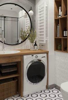 Diy Kitchen Decor, Modern Bathroom Decor, Bathroom Design Small, Bathroom Layout, Bathroom Design Luxury, Bathroom Furniture, Apartment Interior, Apartment Design, Aesthetic Room Decor