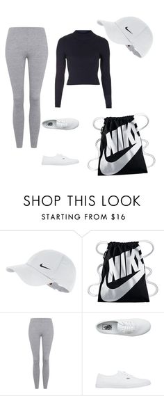 """"""""""" by vuenatalie on Polyvore featuring NIKE, Topshop and Vans"""