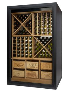 The Wine Room Wine Display Cabinets Illuminated Wine Cabinets For Showcasing Wine Wine Rack Cabinet, Wine Rack Wall, Wine Wall, Wine Shelves, Wine Storage, Wine Cabinets, Display Cabinets, Bar Sala, Rustic Wine Racks