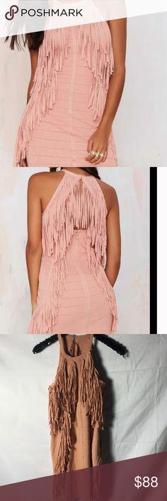 #21 Pink dress Nasty Gal Dresses Midi