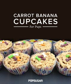 Your dog will go crazy for these cupcakes made with carrots and banana!