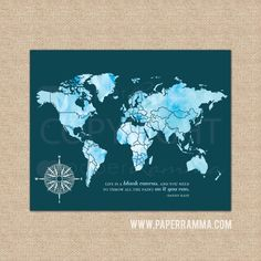Couples INTERACTIVE Travel Map Mark The Places Youve Visited - World map to mark your travels