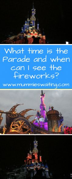 What time is the Parade and when can I see the fireworks?