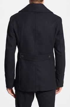 Burberry 'Eckford' Wool & Cashmere Peacoat | Nordstrom