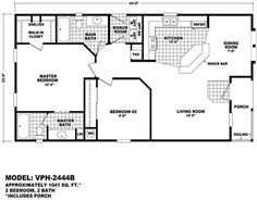Modular Home Values the imperial imp-44813b - manufactured home floor plan | jacobsen