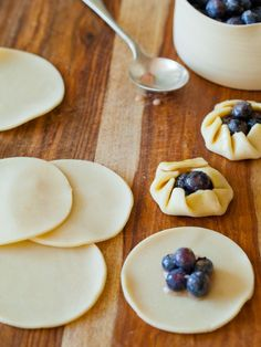 Mini Blueberry Galette dessert recipe.