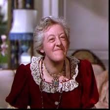 English character actress Margaret Rutherford (1892-1972)