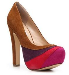 SM Women's Trixie Pump (from DSW).  These pumps can be worn with a great pair of jeans on a casual day or with a dark green/purple dress for a night out of town.