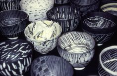 "Priscilla Mouritzen - 1000 Bowls exhibition 1996 Part of the exhibition ""Postulater om Fremtidens Kunsthåndværk"" in the Roundtower, Copenhagen, and then in Galerie Besson, London in 1997"
