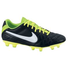 wholesale dealer 2a4b4 4b147 NIKE Tiempo Natural IV Leather Firm Ground Football Boot - Black   Volt   The Nike