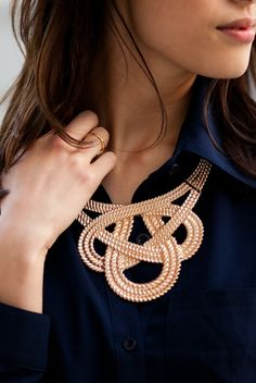 Braided Gold Choker Necklace
