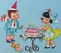 Meneertje KOEKEPEERTJE...: Salon des mamans Vintage Birthday Parties, Kids Birthday Cards, Birthday Images, Birthday Fun, Vintage Greeting Cards, Vintage Postcards, Birthday Greetings, Birthday Wishes, Children Images