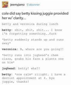 Betty and Jughead | Riverdale |Bughead |Tumblr