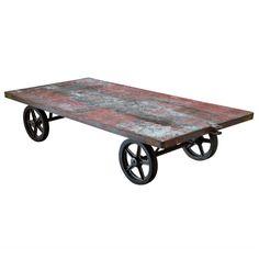 Steel Railroad Cart / Coffee Table