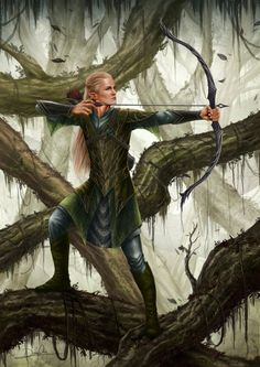 Legolas - Lord of the Rings by Dan Pilla Hobbit Art, O Hobbit, Jrr Tolkien, Legolas And Thranduil, Gandalf, Aragorn Lotr, Wood Elf, Elvish, Orlando Bloom
