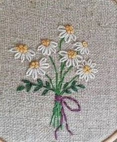 Wonderful Ribbon Embroidery Flowers by Hand Ideas. Enchanting Ribbon Embroidery Flowers by Hand Ideas. Ribbon Embroidery Tutorial, Creative Embroidery, Hand Embroidery Stitches, Silk Ribbon Embroidery, Crewel Embroidery, Hand Embroidery Designs, Embroidery Kits, Cross Stitch Embroidery, Machine Embroidery