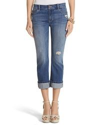 Saint Honore Sequin Crop Jean #whbm