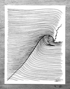 Jonas Claesson – illustrations, t-shirts, prints & fun stuff . Jonas Claesson – illustrations, t-s Ink Illustrations, Illustration Art, Painting Inspiration, Art Inspo, Surf Drawing, Ocean Drawing, Surfboard Art, Abstract Waves, Wave Art