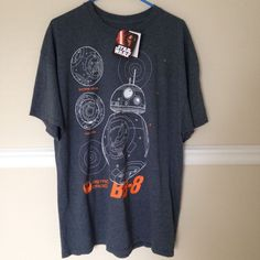 Starwars BB-8 Short Sleeve Shirt 2XL #StarWars #GraphicTee