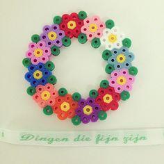 Perler bead flower wreath by dingendiefijnzijn