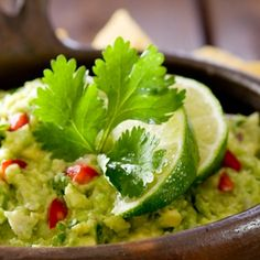 Alton Brown's Guacamole Dip: secret is the chile powder. Ingredients • 3 Haas avocados • 1 lime, juiced • 1/2 tsp kosher salt • 1 tsp chili powder • 1/2 tsp garlic powder • 1/2 medium onion, diced • 2 Roma tomatoes, seeded, diced • 1 tbsp chopped cilantro