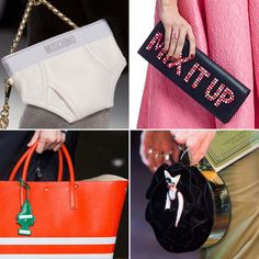 30 Kooky Handbags That Will Make You LOL: The fashion industry can take itself so seriously, so we love spotting any hint of humor on the runways, and this past Fashion Week had wit and whimsy in the bag, literally.