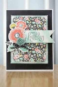 Adorable card using the Chalkboard Collection. #cardinspiration #cardmaking #chalkboard