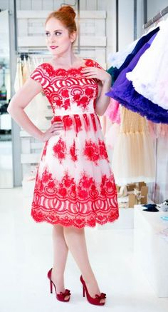 Chi Chi London šaty Addy, červené