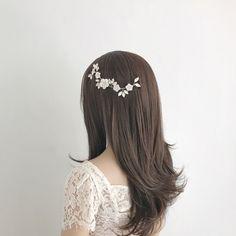*New* Silver crystal flower wedding hair vine - 'Ginger' | Britten
