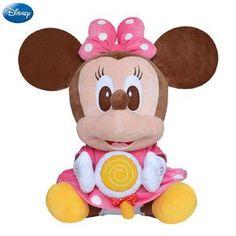74d8800660c7 Genuine Disney Lollipop Mickey Mouse Minnie Kawaii Plush Cotton Stuffed  Animal Toy Pet Toys