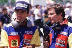 Frank Williams y Patrick Head ,Williams 1986 Damon Hill, James Hunt, Alain Prost, Jackie Stewart, Ford Sierra, Michael Schumacher, John Watson, F1 Racing, Racing Team